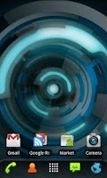 Screenshot of RLW Theme Black Blue Tech