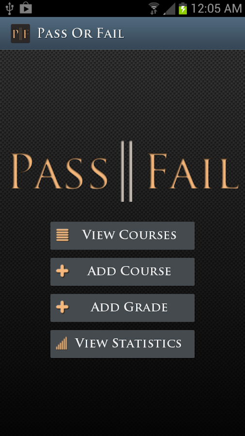 PassOrFail: Grade Manager- screenshot