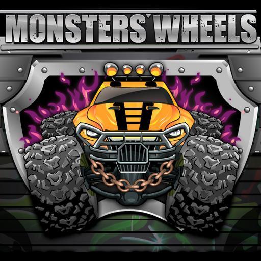 崩溃的怪物轮天王 賽車遊戲 LOGO-玩APPs