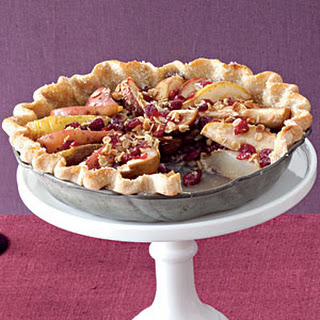 Pear-Cranberry Pie with Granola