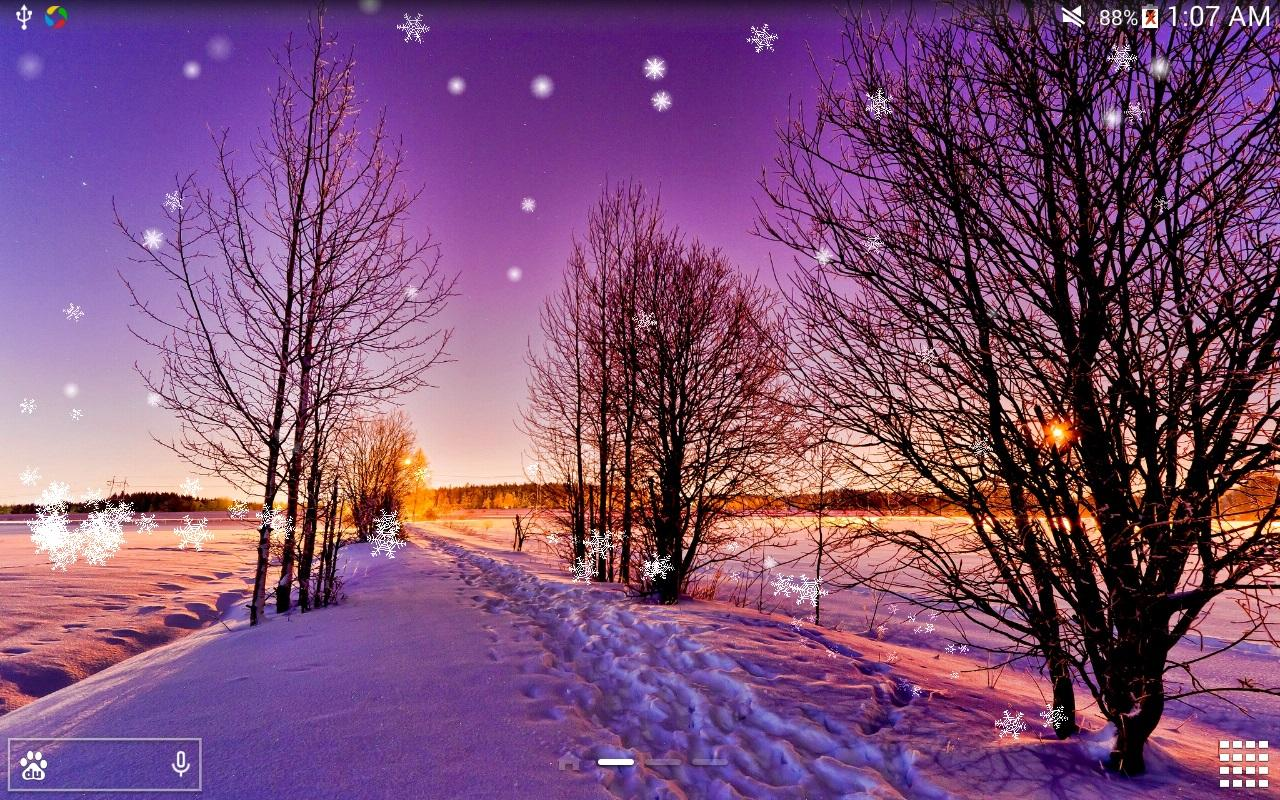 Winter snow lwp hd no ad android apps auf google play for Sfondi invernali hd