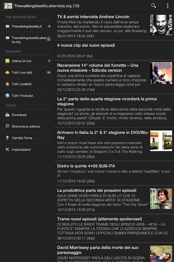 Walking Dead News Italia - screenshot