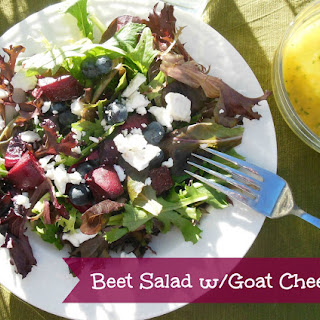 Fresh Beet & Goat Cheese Salad w/Lime Mango Dressing