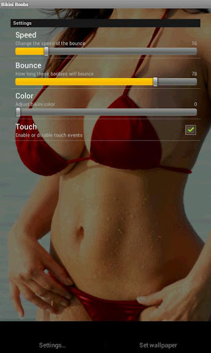 bikini wallpaper settings