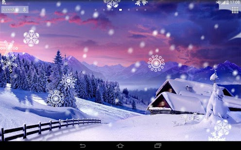 winter clock wallpaper android apps on google play