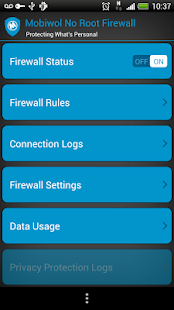 Mobiwol: NoRoot Firewall - screenshot thumbnail