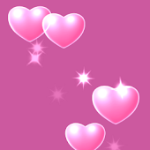 Pink Hearts Live Wallpaper