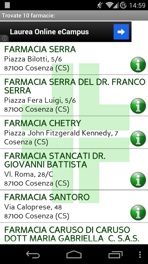 Cerca Farmacia- screenshot