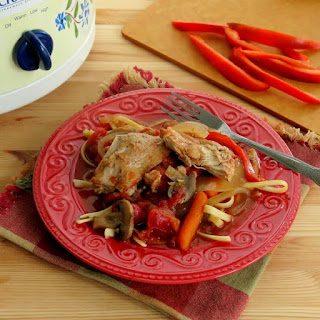 Crock Pot Chicken Cacciatore for #SundaySupper
