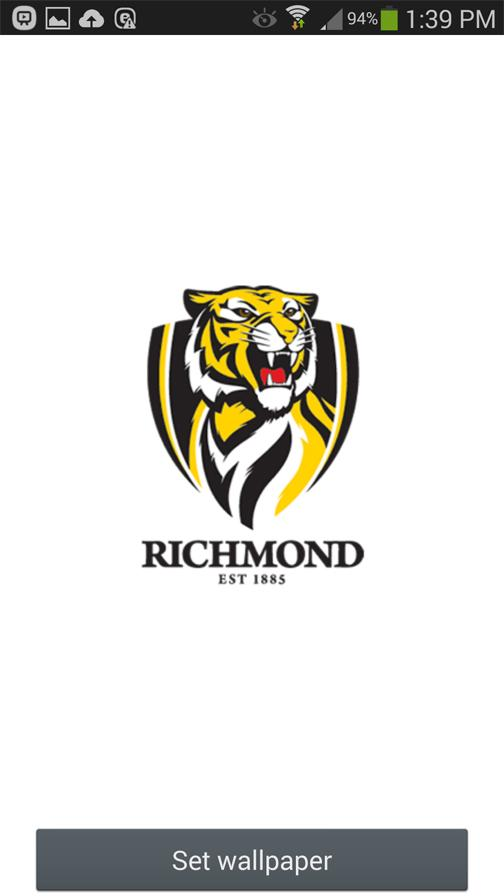 Richmond Tigers Spinning Logo- screenshot