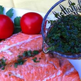 Asian Lime and Cilantro Sauce For Salmon