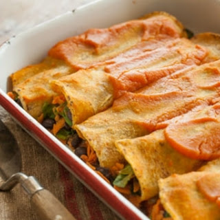 Black Bean and Sweet Potato Enchiladas.