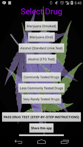 Drug Test Calculator Pass Time