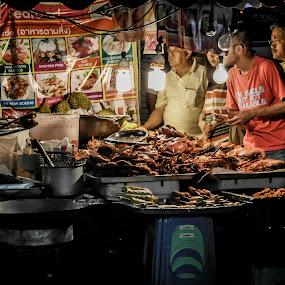 Hatyai Walking Street by Eddy Tan - City,  Street & Park  Markets & Shops ( hatyai, market, food, street, thailand )