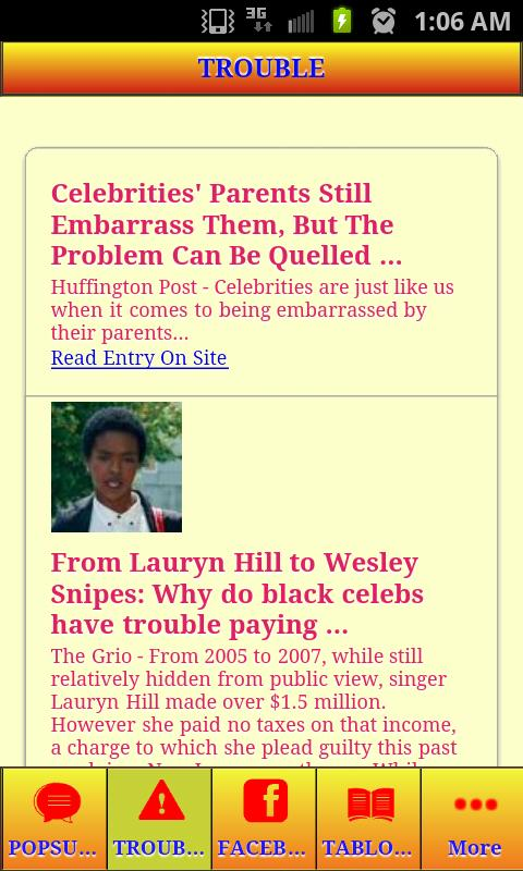 CELEBRITY GOSSIP AND HOOKUPS - screenshot