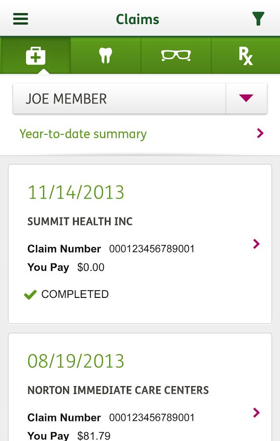 MyHumana Mobile - screenshot