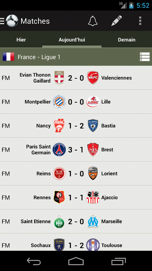 Soccer Scores Fotmob android