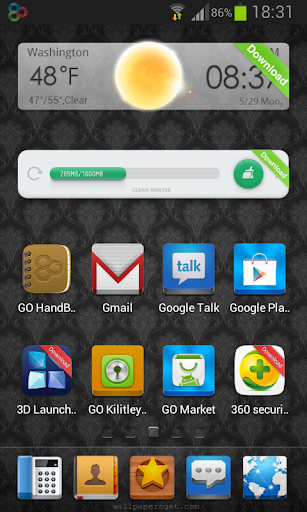 Abstract Go Luncher Theme