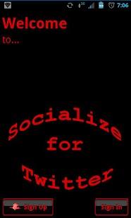 Red Socialize for Twitter- screenshot thumbnail