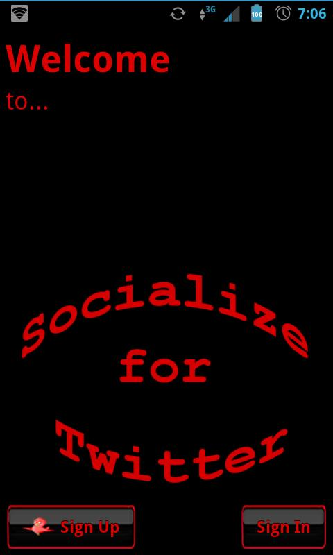 Red Socialize for Twitter- screenshot