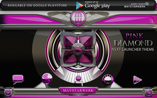 Next Launcher theme Pink Diamo app for Android screenshot