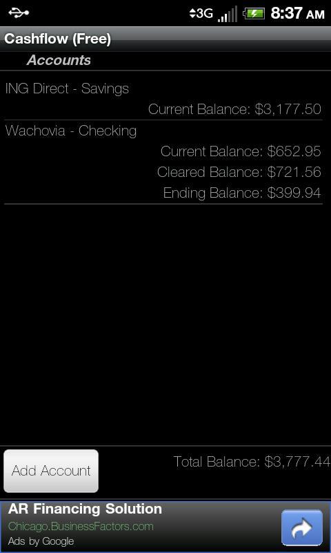 Cashflow (Free)- screenshot