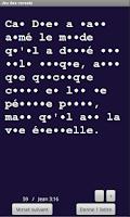 Screenshot of Jeu versets bibliques