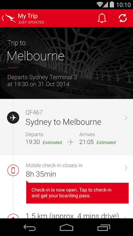 Qantas Airways - screenshot