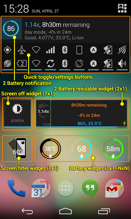 2 Battery - Battery Saver - screenshot