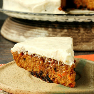 Carrot Cake Poke Cake with Salted Caramel Cinnamon Glaze