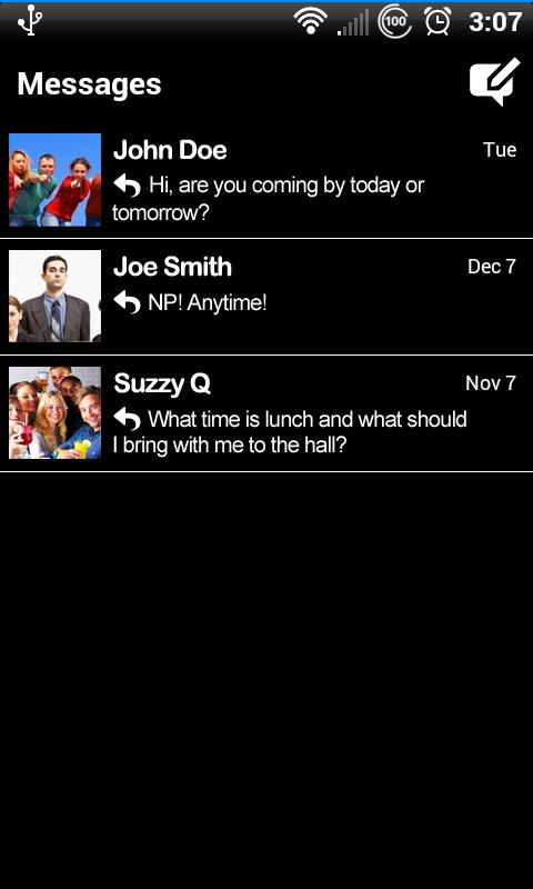 Black for Facebook Messenger - screenshot