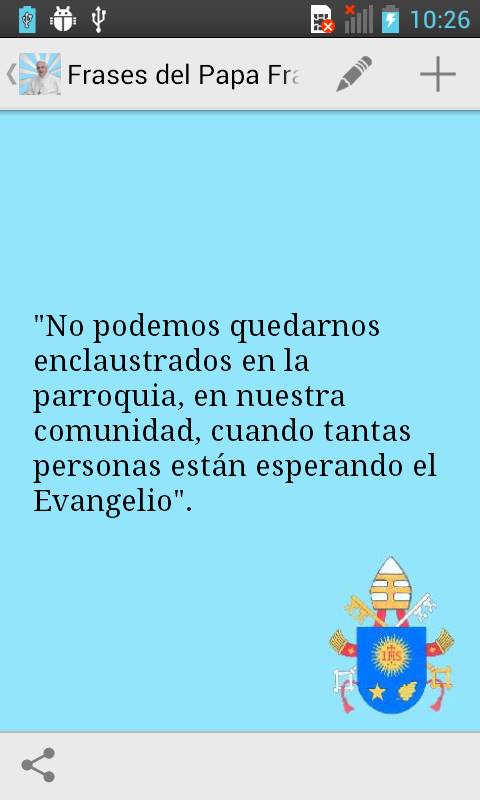Frases del Papa Francisco- screenshot