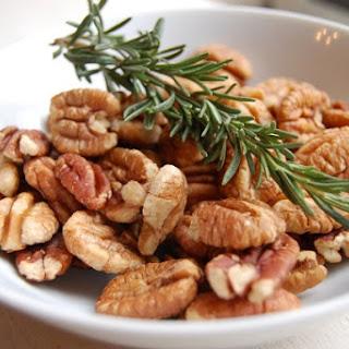 Maple-Rosemary-Bourbon Pecans
