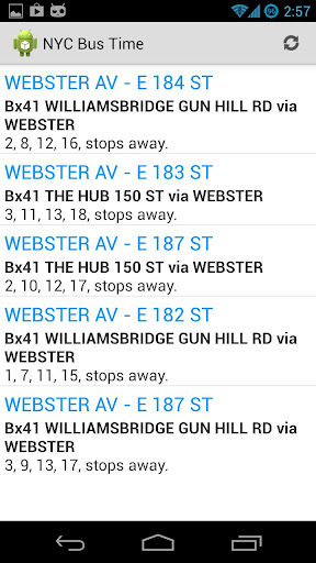 NYC Live Bus Times