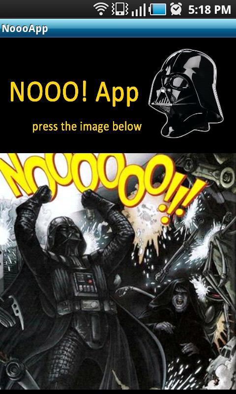 Darth Vader Nooo! Button - screenshot