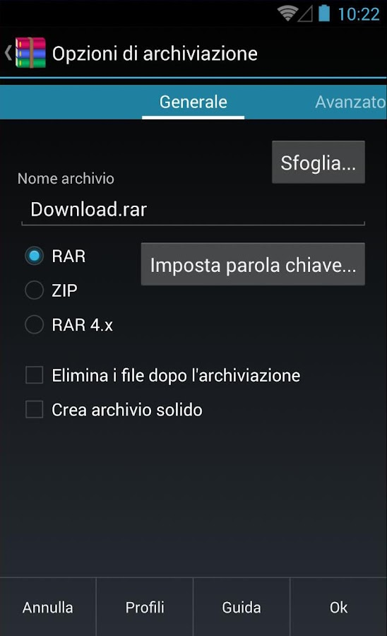 RAR- screenshot