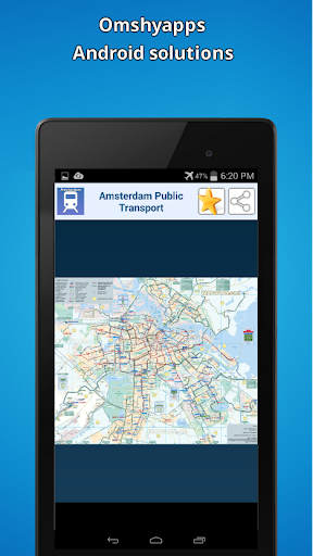 地圖阿姆斯特丹的公共交通
