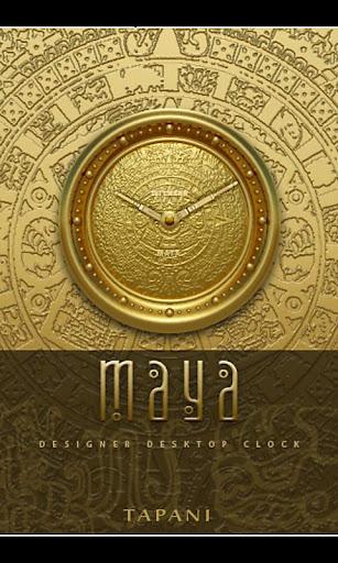 Maya Designer Clock Widget