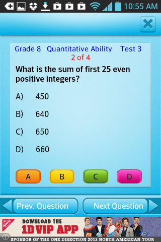 Free Grade 8 Math English 8th- screenshot