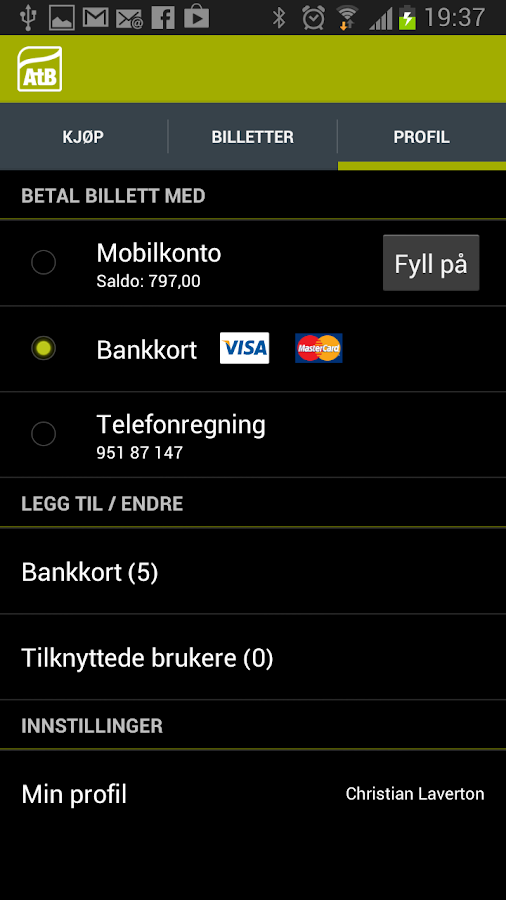 AtB Mobillett - screenshot
