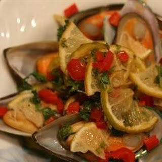 Grilled Mussels with Curry Butter.