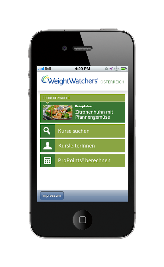 weight watchers sterreich android apps on google play. Black Bedroom Furniture Sets. Home Design Ideas
