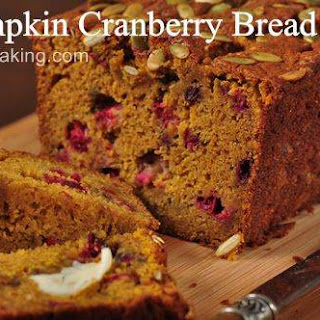 Pumpkin Cranberry Bread Tested