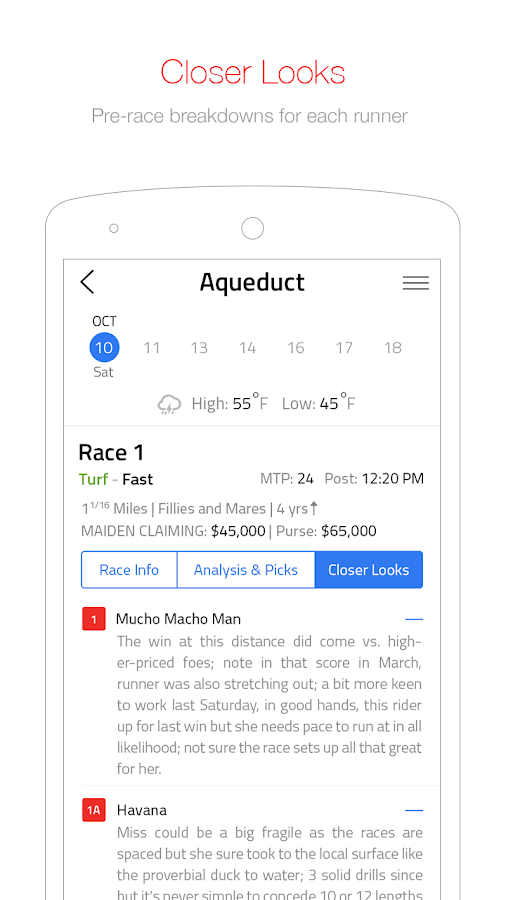 Daily Racing Form- screenshot