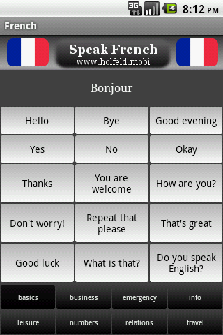 Speak French Free- screenshot