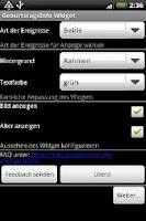 Screenshot of Birthday Info Widget