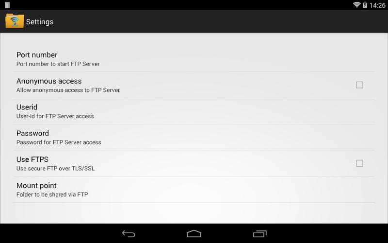 WiFi Pro FTP Server Screenshot 10