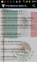Screenshot of Free Mexican Radio Stations