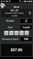Screenshot of Gold & Silver Price Calculator