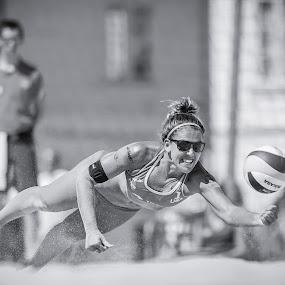 | Bech vollyball | by Photo Jovan - Sports & Fitness Other Sports ( beachvolleyball, sand, ball, action, mikasa, sport, usa, sunglasses,  )